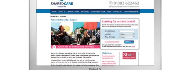 Shared Care Scotland – Website